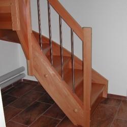 Treppe Buche 2x 1/4 gewunden